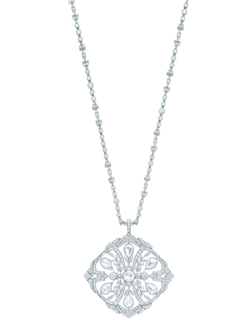 Tiffany diamond medallion pendant-----