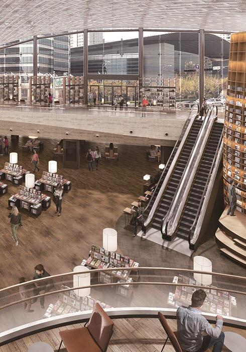 쇼핑몰 속 휴식처 '열린 도서관', 스타필드 코엑스몰 한복판에 들어서다