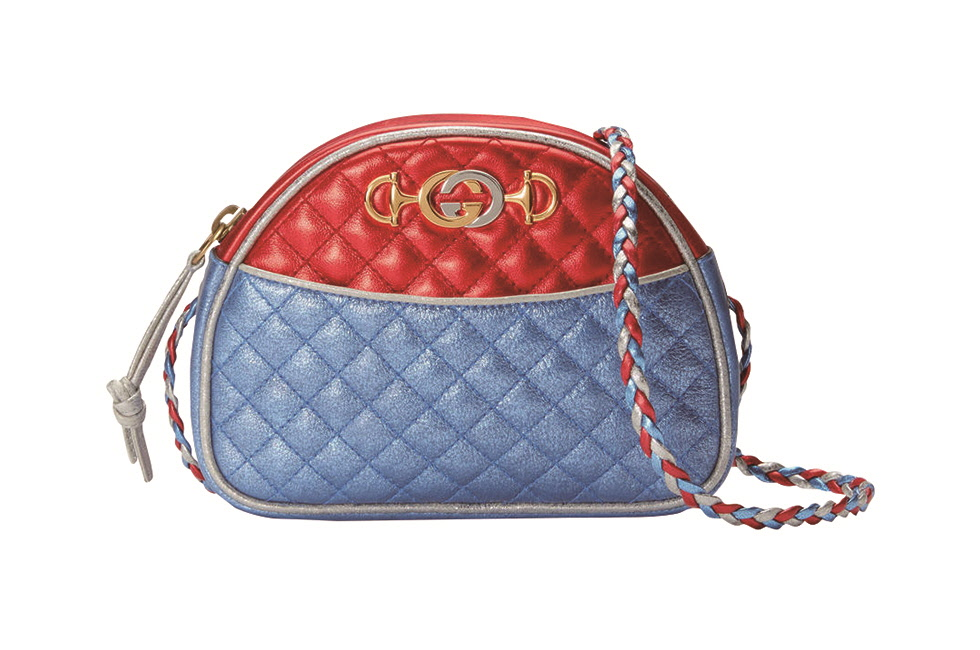 [GUCCI] Metallic Quilted SLG (3)